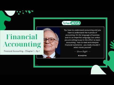 [Tự học ACCA] - FA / F3 - CHAPTER 1.1: Giới thiệu kế toán tài chính - Financial Accounting - 2020