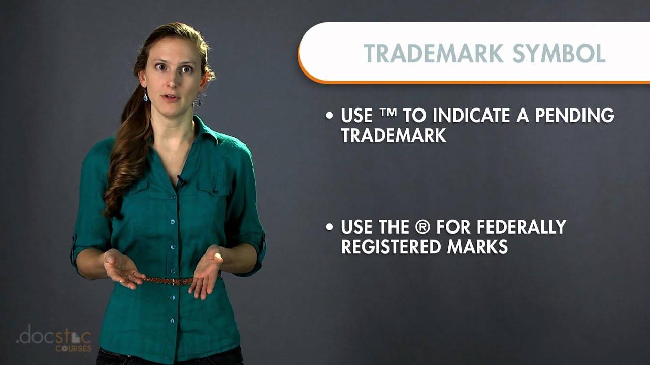 Trademark Symbol Usage Business Writing Grammar Youtube