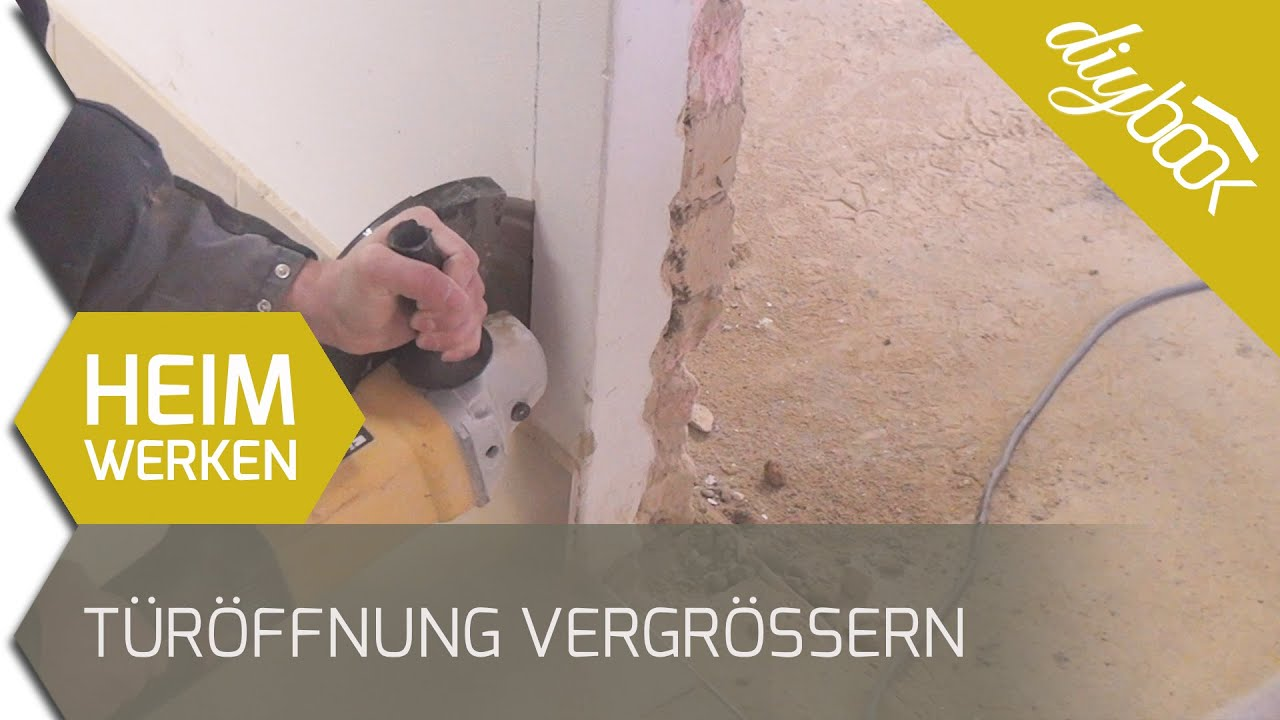 Türöffnung vergrößern - Mauerdurchbruch schneiden - YouTube