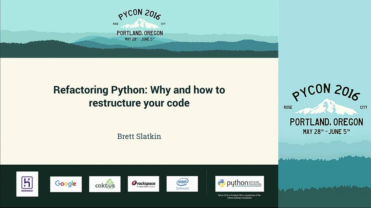 Image from Refactoring Python: Why and how to restructure your code