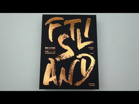 Unboxing FT Island 에프티 아일랜드 10th Anniversary Album Over 10 Years