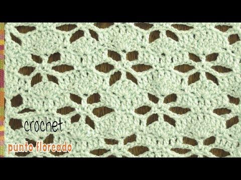 Punto floreado calado vintage tejido a crochet / Tejiendo Perú