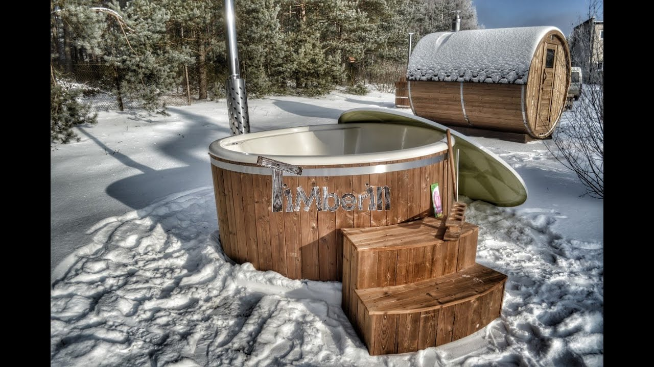 Wellness Fiberglass Hot Tubs Royal Model - Timberin