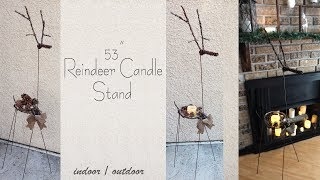 Reindeer Candle Stand DIY / Rustic Christmas Decor