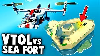 INCREDIBLE Plane-Helicopter VTOL vs SEA FORTRESS!  (Stormworks Best User Creations)