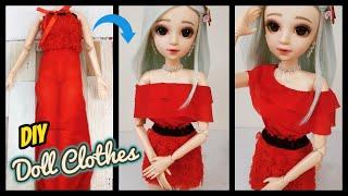 HƯỚNG DẪN MAY ÁO TRỄ VAI VÀ VÁY CHO BÚP BÊ 60cm / DIY Doll clothes Ami DIY