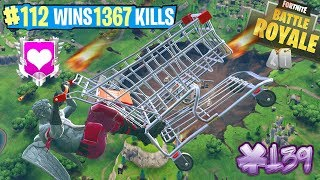 🔴 FORTNITE LV.71 SHOPPING CART! WIN 10TH BATTLE PASS! FROM 8.30pm WITH DONATORS!!