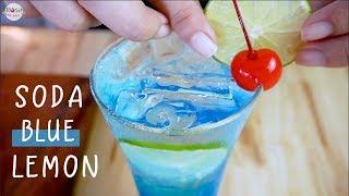 Hướng dẫn làm Soda Blue Curacao hương chanh