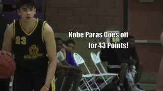 2016 Kobe Paras GOES OFF for 43 Points and DUNKS OVER Defender!