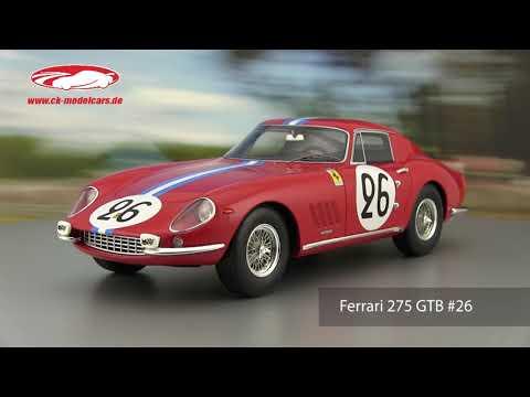 de Bourbon-parme 1:18 cmr Ferrari 275 GTB #26 24h Lemans 1966 biscaldi
