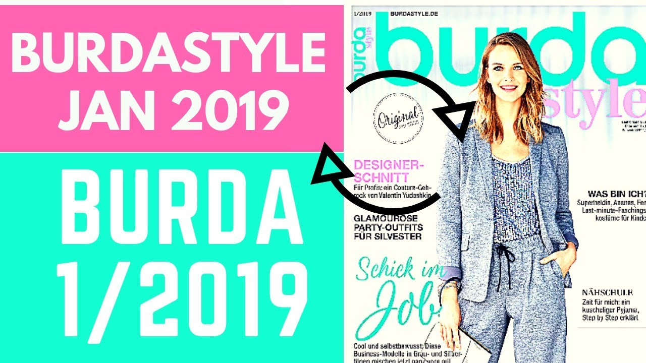 Burdastyle 01 2019 Magazine Browsethrough And Sewing Plans Youtube