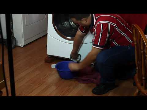 Whirlpool, GE Front Load Washer Wont Drain or Spin   Clean Filter & Drain Water