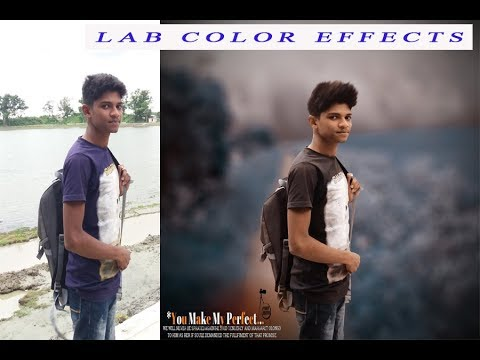 Changeing background and Lab color effect - photoshop cs6 manipulation tutorial