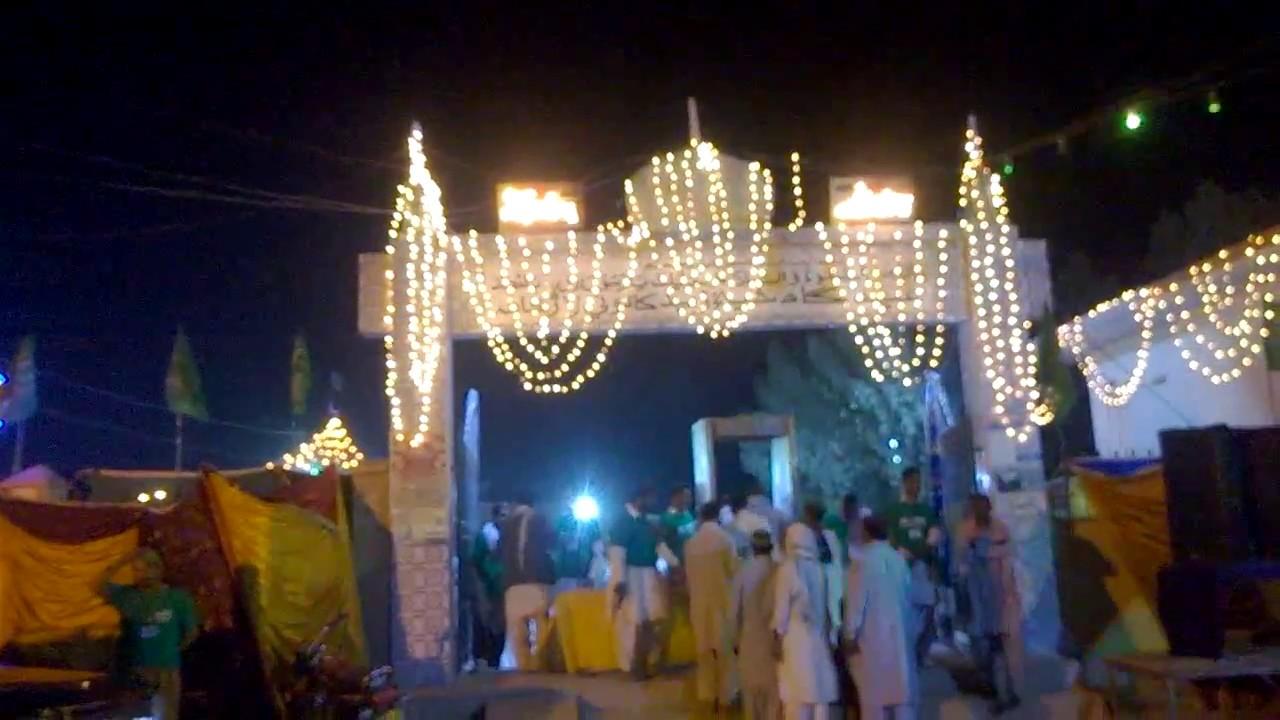 Download beautiful naat || Halima da pyara te Amina da chen || decorated road for amad e mashori pir ||