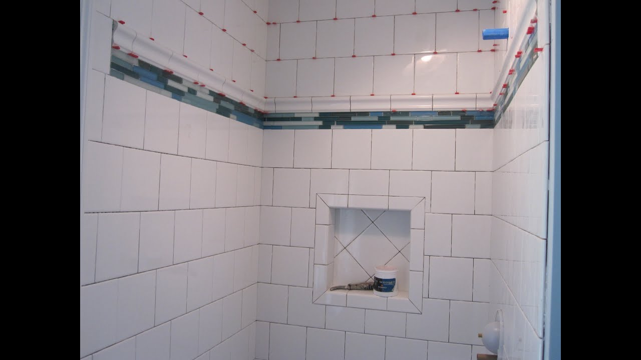 Running Bond Ceramic Tile Shower Stall Youtube