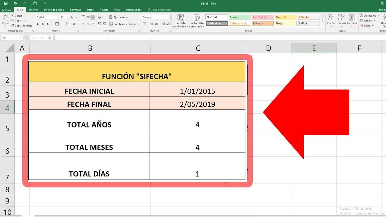 771 Calcular La Diferencia Entre Dos Fechas En Excel Obtener Años Meses Y Días 2019 Youtube Clases De Computacion Trucos De Excel Tecnología Educativa