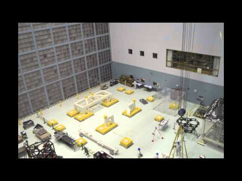 Time-lapse Construction of the James Webb Space Telescope Ambient Optical Assembly Stand.