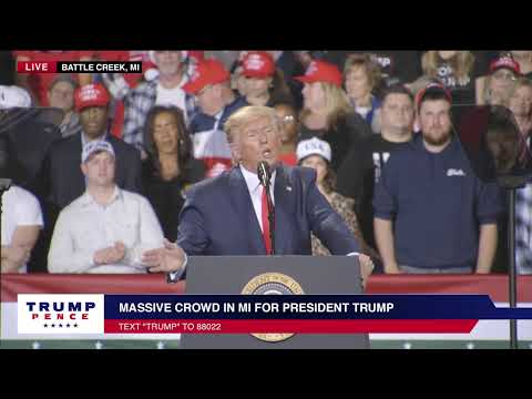 LIVE: President Trump In Battle Creek, MI