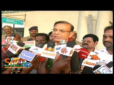 The Minister of Civil Aviation Jayant Sinha Press Meet at Madurai