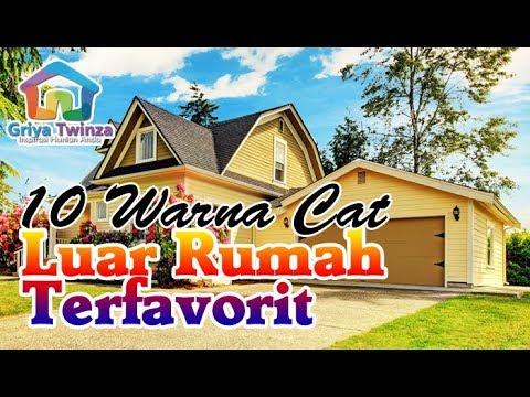 10 Warna Cat Dinding Luar Rumah yang Cerah Terfavorit