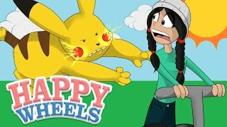 PIKACHU IS TRYING TO KILL ME!!   Happy Wheels!   Amy Lee33