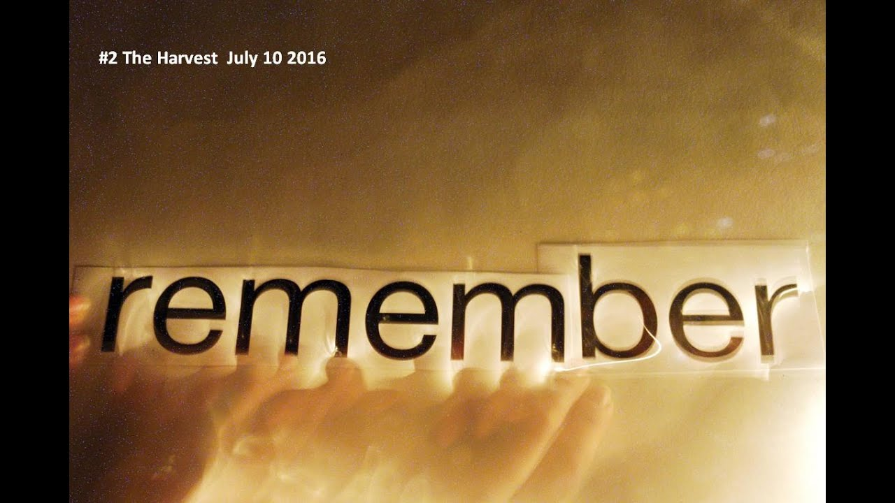 REMEMBERING WHO WE ARE  #2 The Harvest  July 10 2016