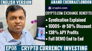 EP08 - CRYPTO INVESTING ENGLISH| Crypto.com Exchange Syndication Explained | 50% Discount Crypto