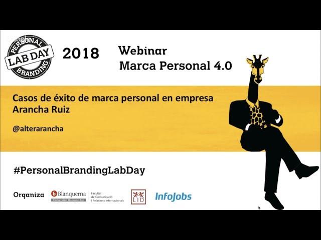 Arancha Ruiz en el Personal Branding Lab Day 2018