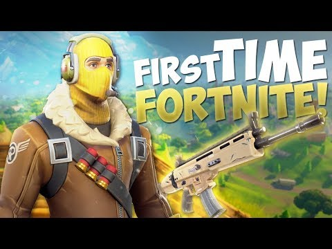First Time Fortnite Battle Royale w/ Victory Royale at the End! (PC Gameplay)