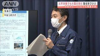 あす東京23区でも積雪か 国交省が緊急の呼びかけ(2021年1月11日) - YouTube