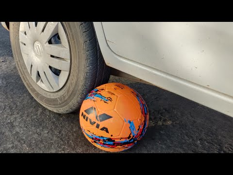 Football vs Car Experiment || Football Under The Car Tyre || Experiment King