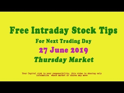 Repeat Free Intraday Stock Tips for Thursday Market 27 June