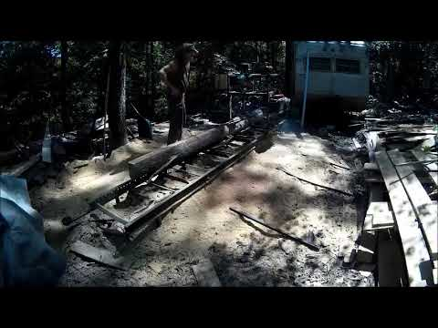 Homemade Sawmill cuts in both directions