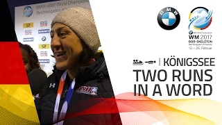 Two Runs in a word | Day 02 | BMW IBSF World Championships 2017
