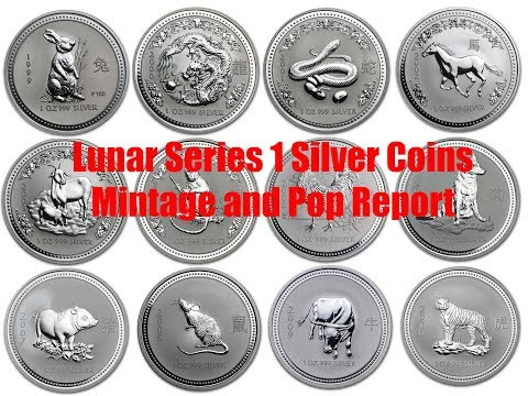 Lunar Series 1 Silver BU Mintage, Pop Report & Prices