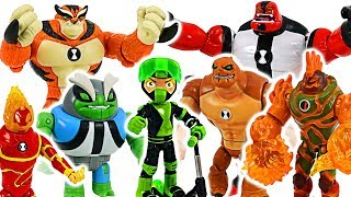 Ben 10 Rustbuggy Ben and new transform alien Rath, Humungousaur, Hot Shot! Go! #DuDuPopTOY