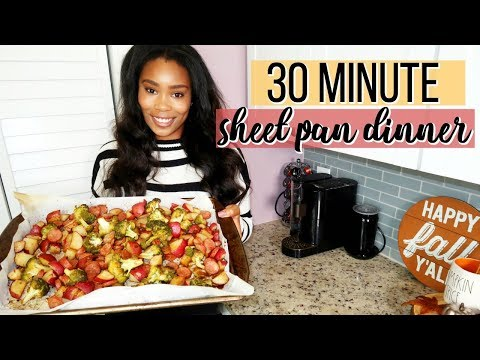SAUSAGE, POTATO & BROCCOLI SHEET PAN DINNER IN 30 MINUTES | LoveLexyNicole