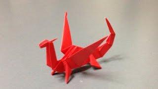 折り紙 立体 ドラゴン 折り方 作り方 How to make an origami dragon thumbnail