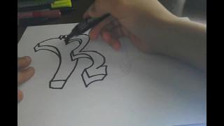 КАК НАРИСОВАТЬ ГРАФФИТИ! Рисуем граффити на бумаге!