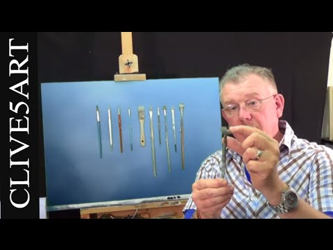 BRUSH SELECTION, Acrylic painting for beginners, #clive5art