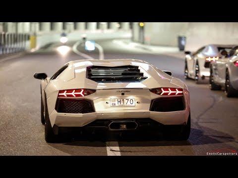 Lamborghini Aventador w/ iPE Exhaust - Flame & Loud Sounds !
