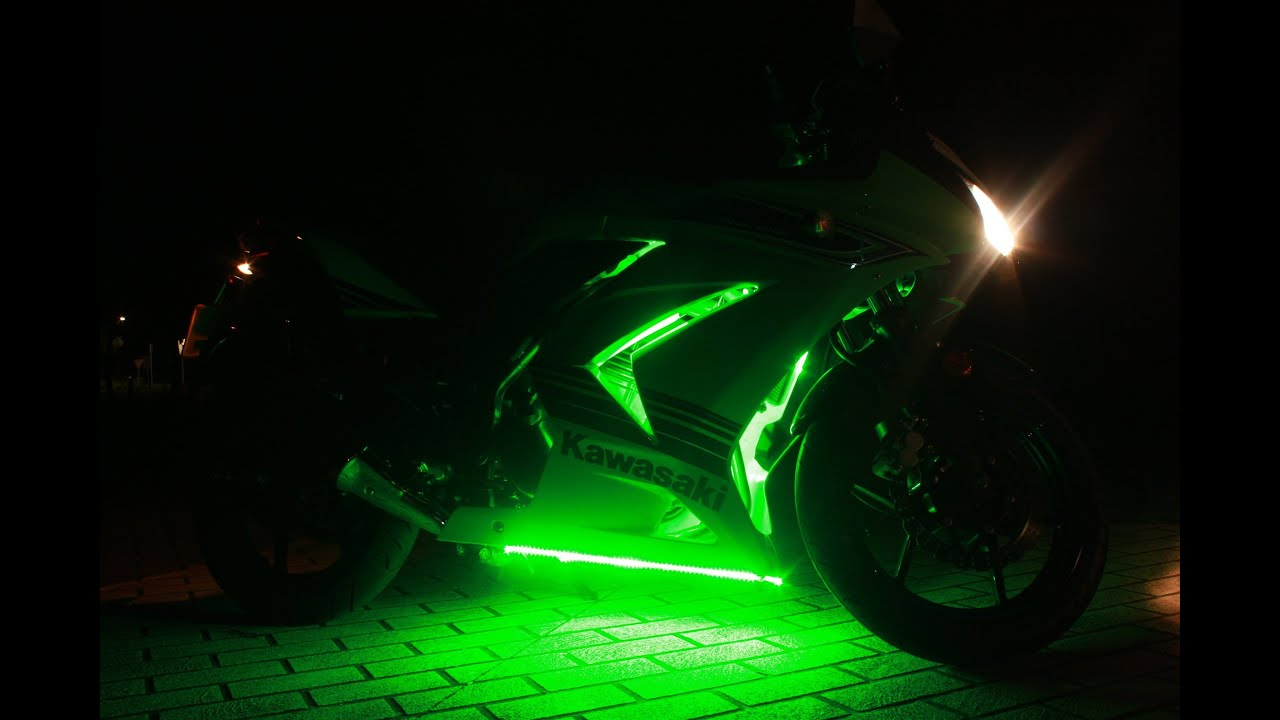 Kawasaki Ninja 250r Underglow Leds Youtube