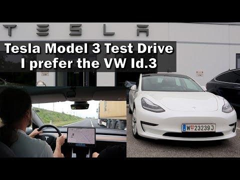 Tesla Model 3 Test Drive - I want the VW Id.3 more!