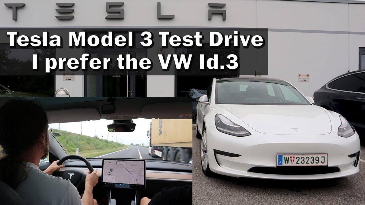 Tesla Model 3 Test Drive - I want the VW Id.3 more! - YouTube