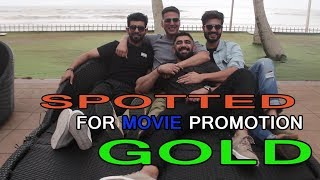Akshay Kumar & Amit Sadh Spotted at Novotel For Movie Promotion Gold