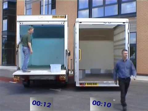 Ford Transit Conversion Van >> Low Loading Luton Box Van dry freight compare times with tail lift - YouTube