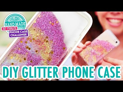 separation shoes a5335 0c444 DIY Colorful Glitter Phone Case - HGTV Handmade Phone Case Challenge ...