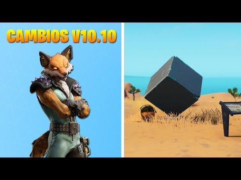 CAMBIOS en ACTUALIZACION 10.10 de FORTNITE BATTLE ROYALE