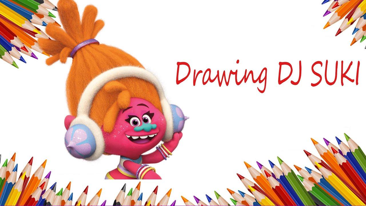 how to draw dj suki from trolls step by step c 243 mo