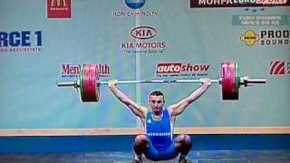 Weightlifting European Championships 2009 Snatch Cat. 69kg, (promienpzpc.glt.pl)